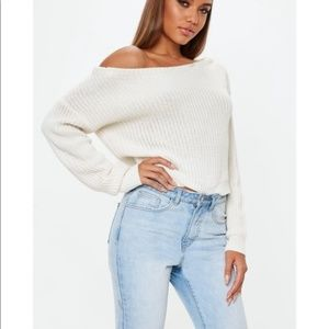 Missguided Off the Shoulder Sweater Small Medium
